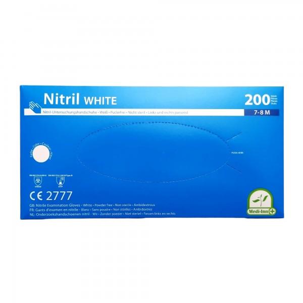 Medi-Inn Nitril Handschuhe Gr. M, WEISS, 200 Stück