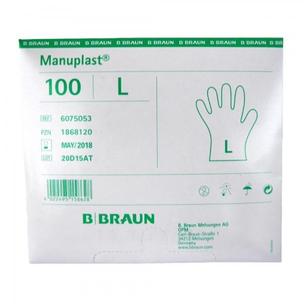 Manuplast Einmalhandschuhe PE gehämmert, Gr. L
