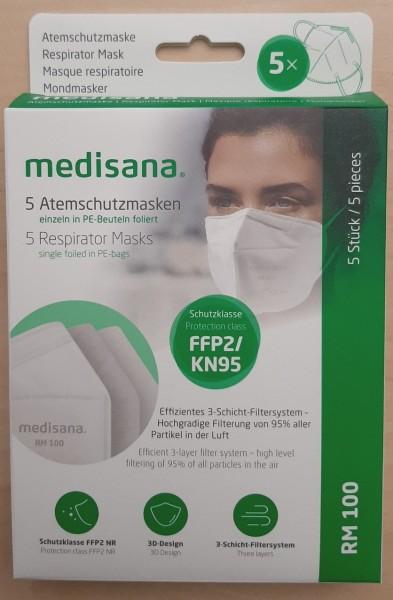 FFP2/KN95 Atemschutzmasken, 5 Stück