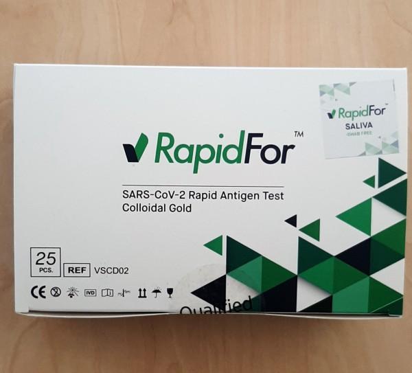 Corona Spucktest - Antigen-Schnelltest RapidFor - 25 Stück