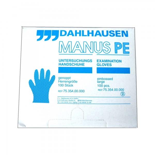 Manus Einmalhandschuhe aus Polyethylen, genoppt