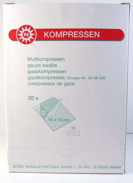 Mullkompressen 10x10 cm, 20x5 Stück