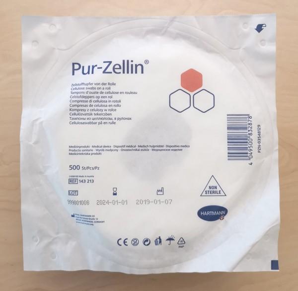 Pur-Zellin 4 x 5 cm unsteril, Rolle zu 500 Stück