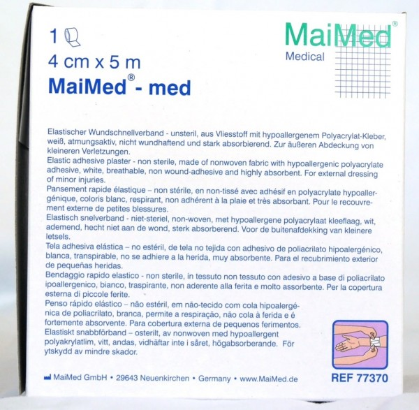 MaiMed med Hypoallergenes Wundpflaster 4 cm x 5 m