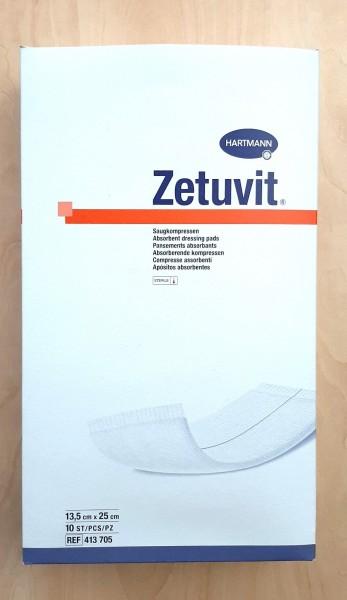 Zetuvit Saugkompressen 13,5 cm x 25 cm, steril (MHD 04/21)